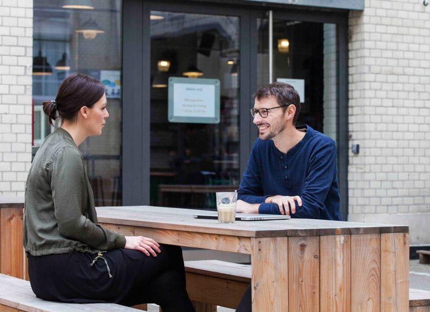 Digitale Leute - Martin Junker - Idealo - Bei Kollegen ist der Außenbereich von Idealo sehr beliebt.