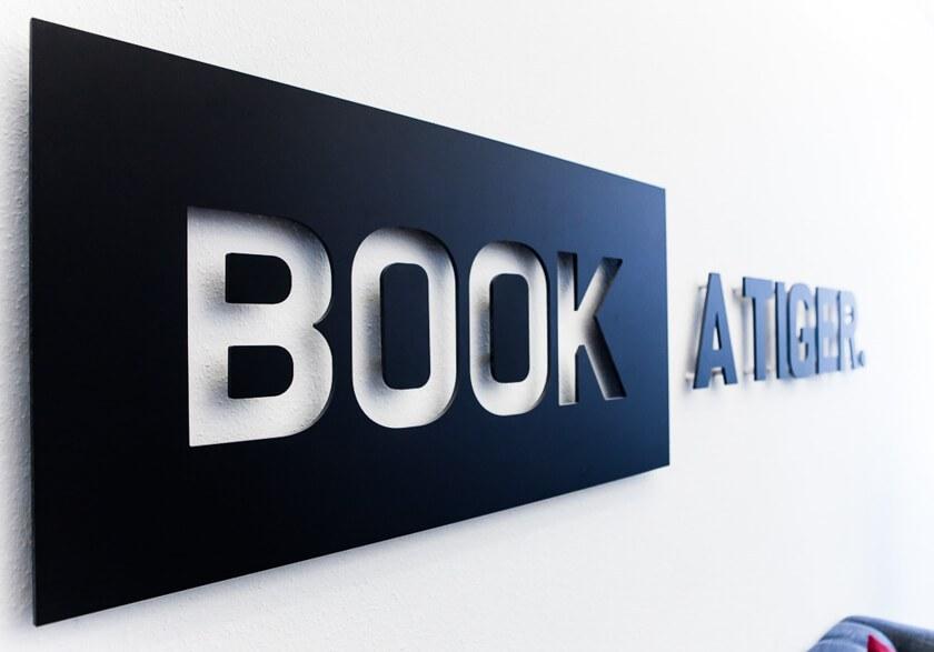 Digitale Leute - Bjarke Walling - Book A Tiger - Das Logo von Book A Tiger.