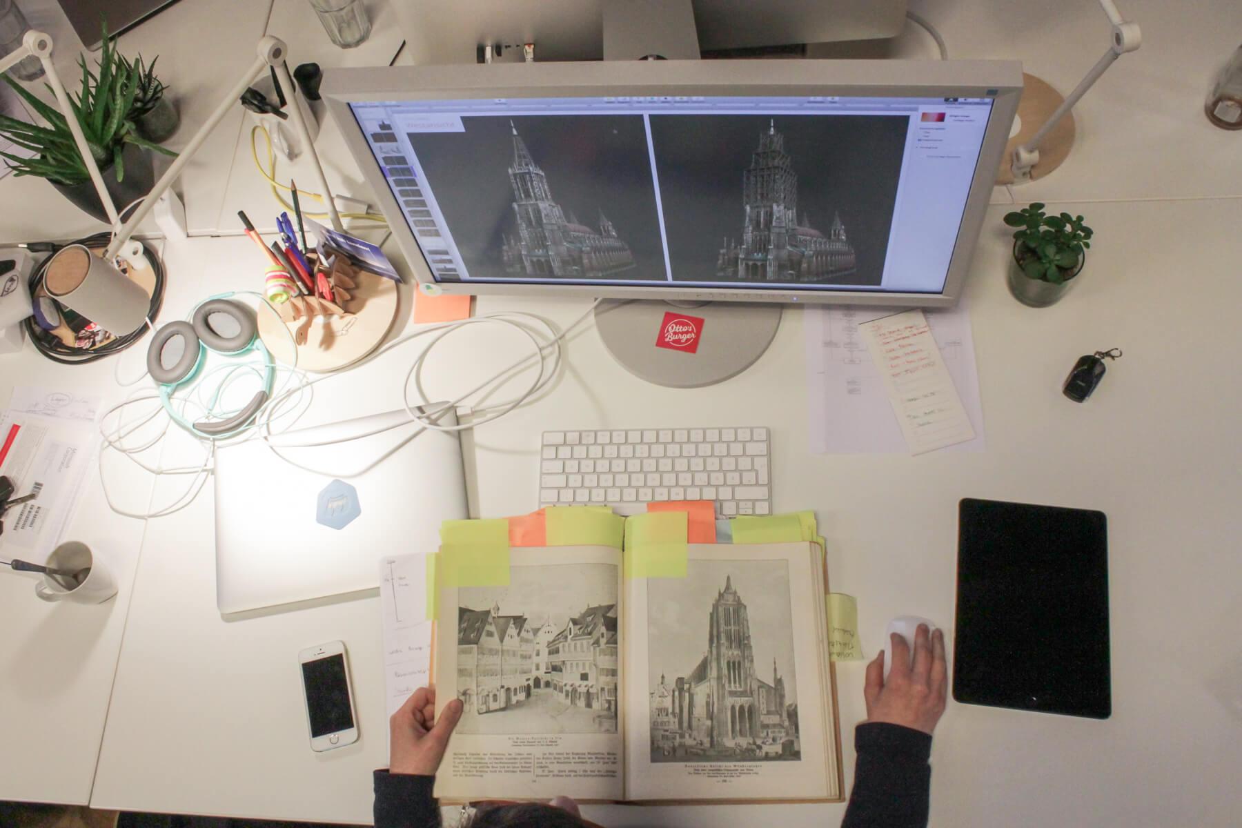 Digitale Leute - Mariana Gütt - Demodern - Für die Recherche fuhr die UX-Designerin nach Ulm in das Stadtarchiv.