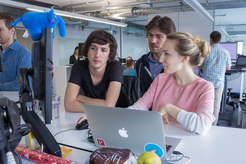 Digitale Leute - Markus J. Doetsch - Rocket Internet - Da das Team von Markus in einem Raum ist, können Absprachen und kleine Besprechungen jederzeit stattfinden.