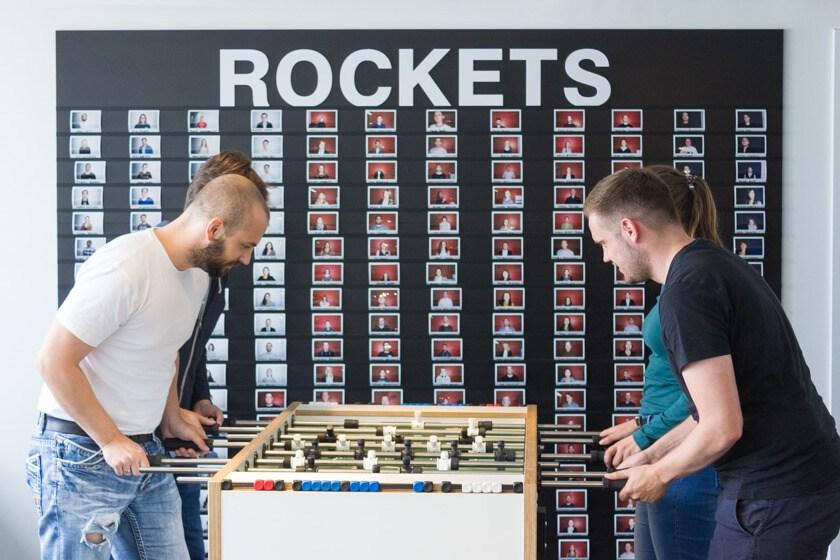 Digitale Leute - Markus J. Doetsch - Rocket Internet - Ein Tischkicker darf bei einem Startup-Unternehmen natürlich nicht fehlen.