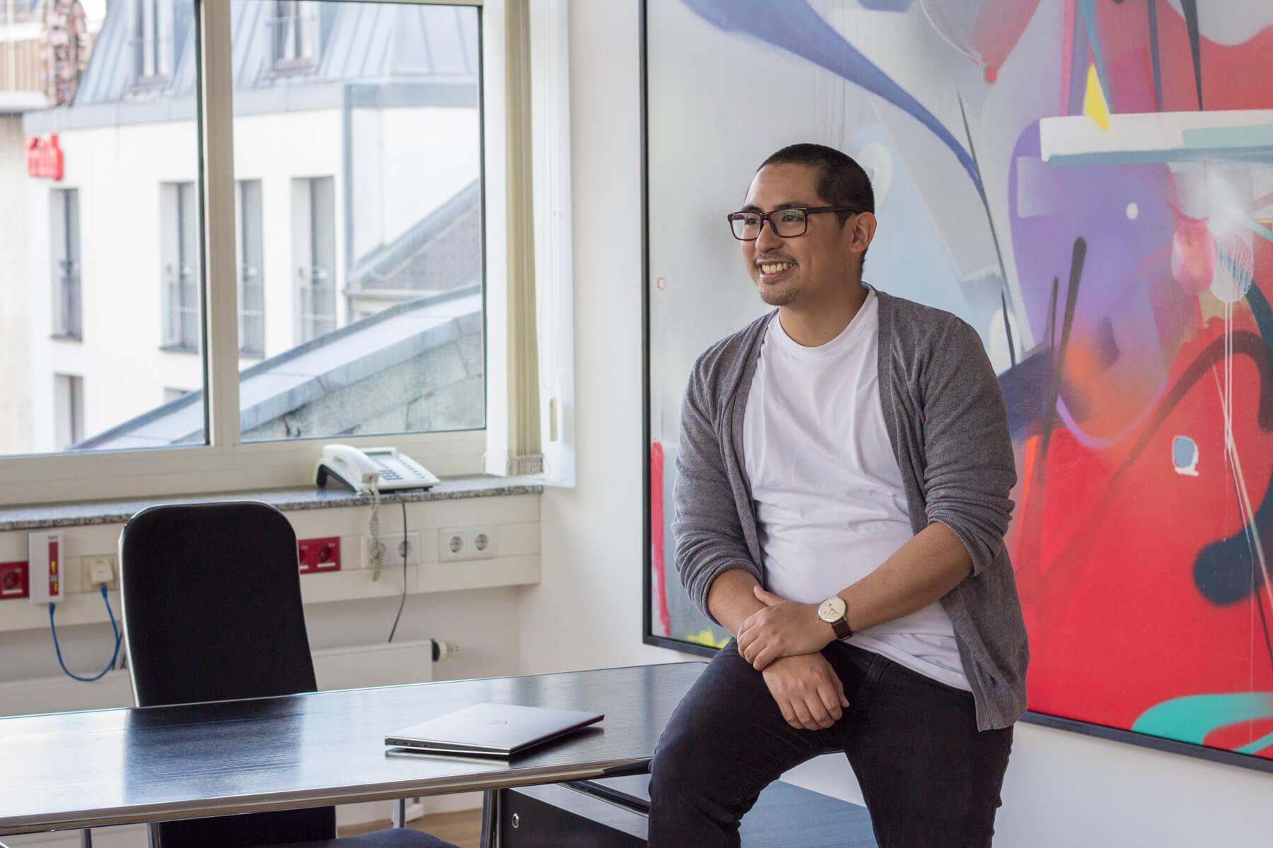 Porträt Christian Vino, Software-Entwickler bei pro.volution