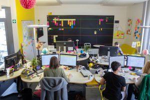 Teambüro bei Yello