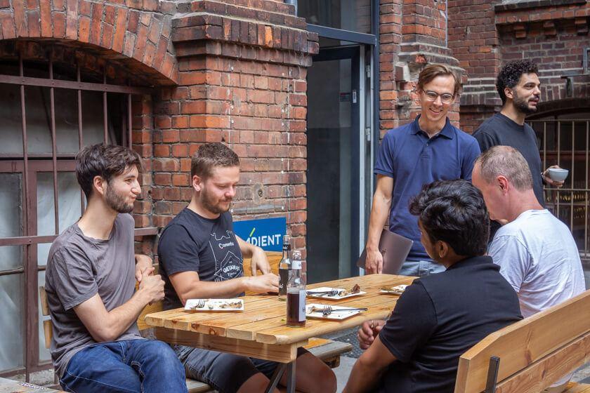 Contenful Team beim Lunch