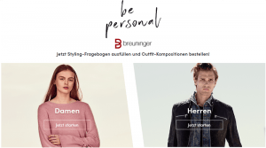 Curated Shopping beim Modehaus Breuninger, Screenshot