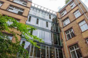 Das Gebäude von BCG DV in Berlin.