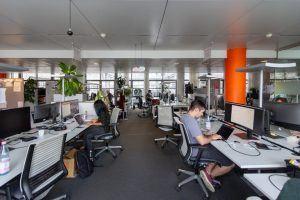 Das Großraumbüro von Jannet im Office von Scout24.