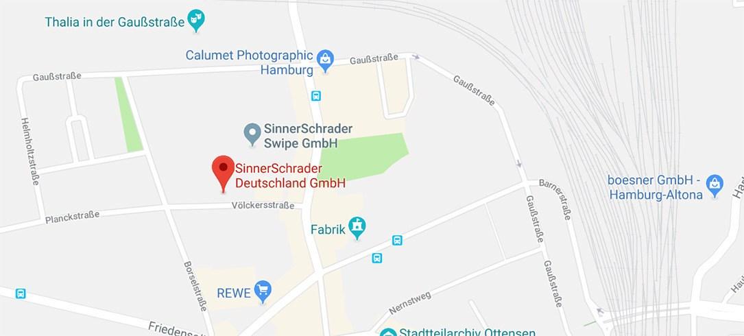 Google Maps der Location von SinnerSchrader.