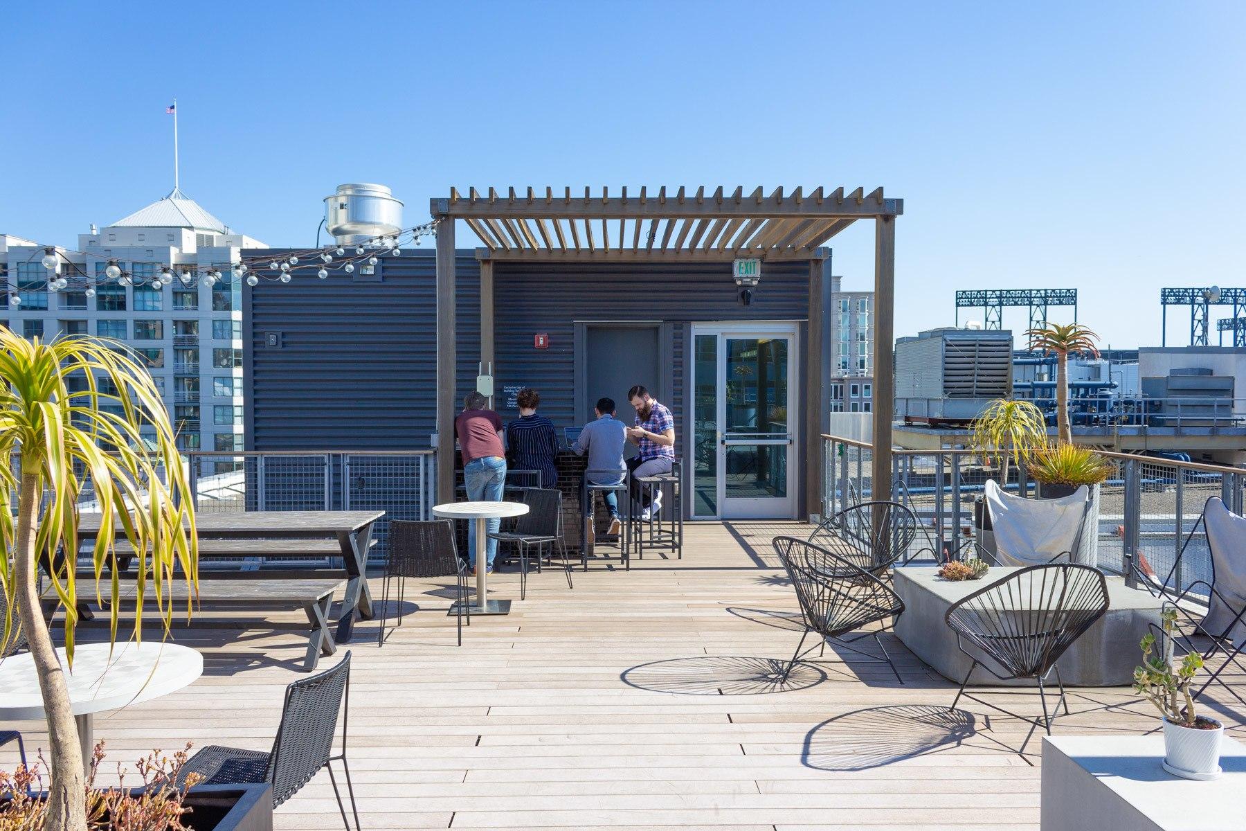 GitHub, San Francisco, Dachterasse
