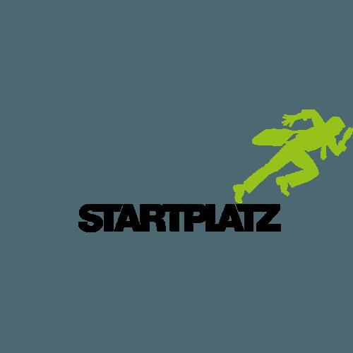 Logo des Coworkingspaces und Inkubators Startplatz.