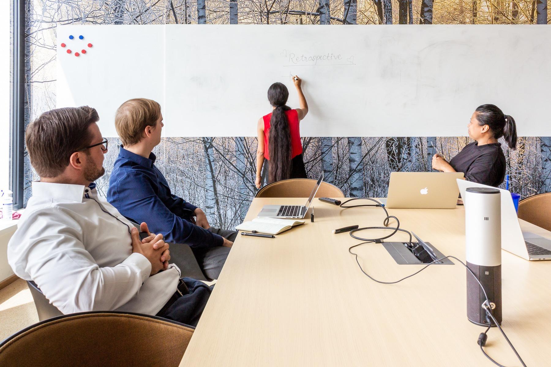 Während einer Retrospektive bei HRS in Köln.