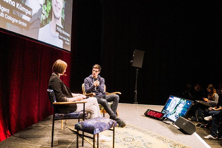 Philip Bauman, CPO at Ecosia on Stage at Digitale Leute Summit 2019.