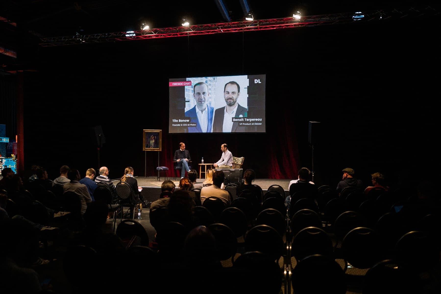 Benoit Terpereau and Tilo Bonow on stage 2 at Digitale Leute Summit 2019.