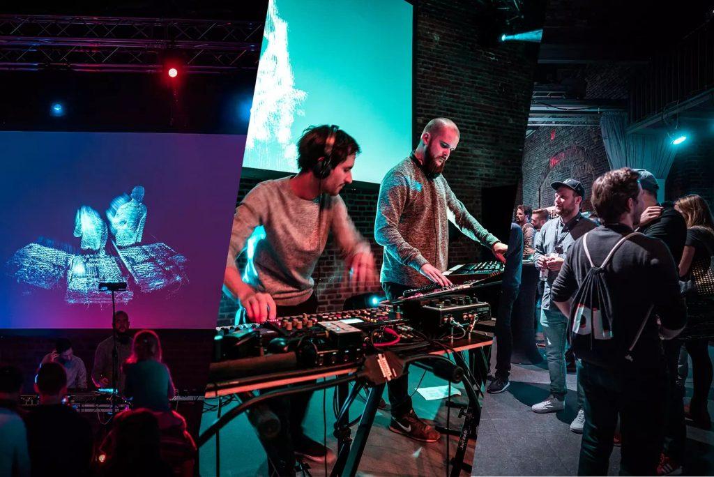 Die Band Cylvester auf dem Digitale Leute Summit 2018.